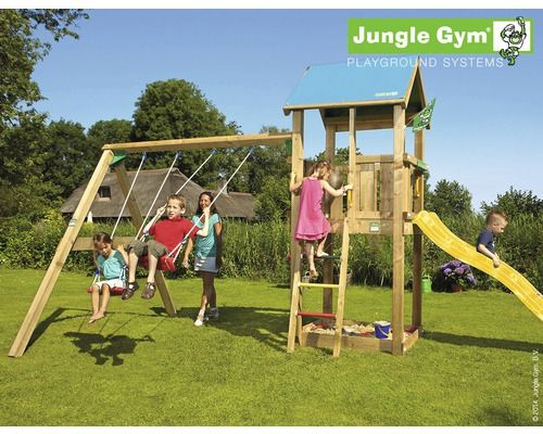 Klettergerüst Outdoor Holz : Spielturm jungle gym castle swing holz mit sandkasten