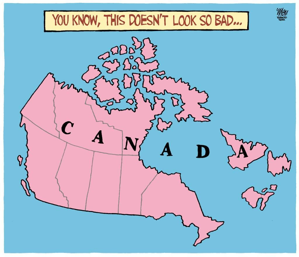 Potential Map of Canada (A Rejected Toronto Star Editorial Cartoon from March 13)