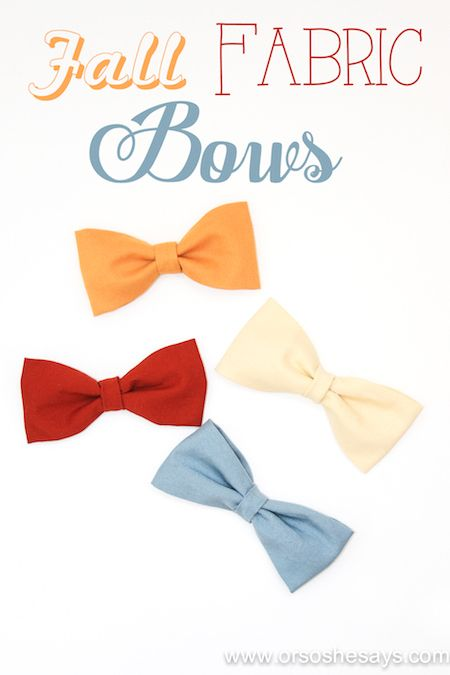 Fall Fabric Hair Bows (she: Sierra)
