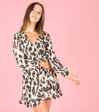d6a6e8e9699a BROWN PANTHER BEIGE DRESS | My Fashion Cloud - Dresses, Beige ...