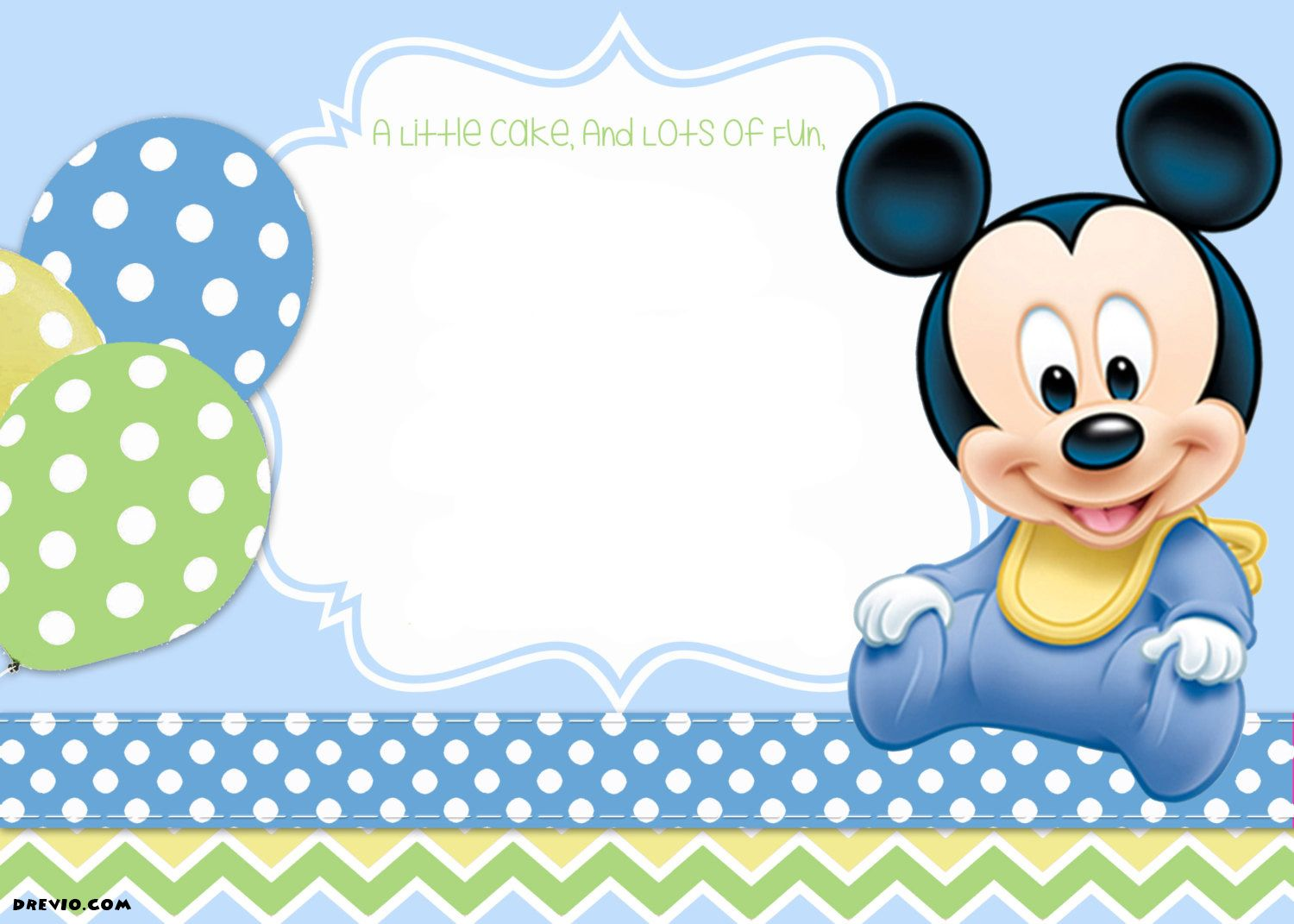 photograph about Free Printable Mickey Mouse Birthday Invitations named Mickey Mouse 1st Birthday Invites Tiagos birthday