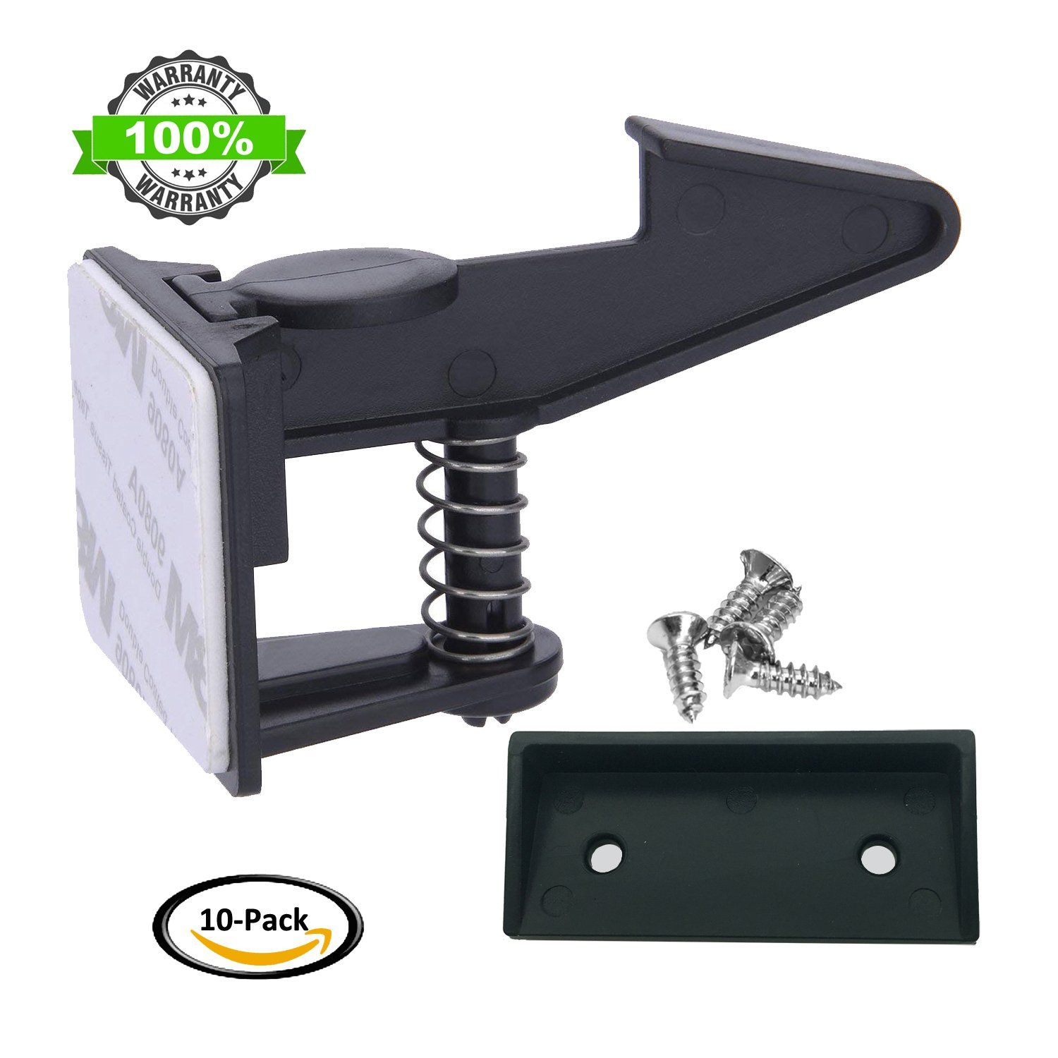 4 pack Spring Loaded Cabinet and Drawer Latch