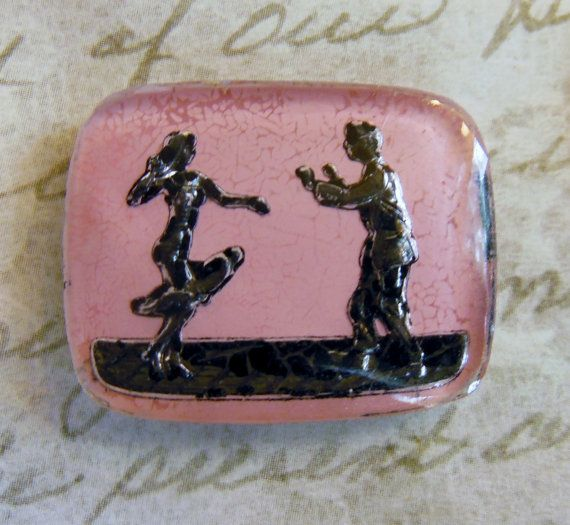 Rare vintage intaglio  couple dancing man woman by a2zDesigns, $5.00