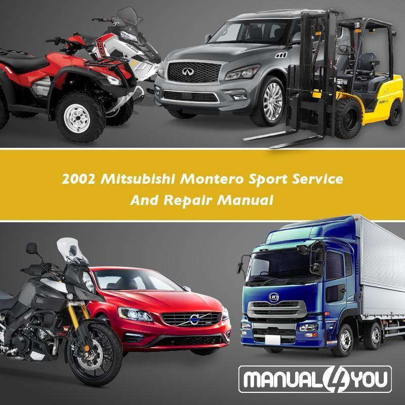 2002 Mitsubishi Montero Sport Service And Repair Manual Repair Manuals Repair Toyota