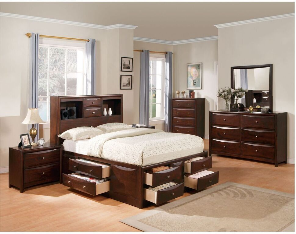 Acme Furniture - Manhattan California King Bed w/Storage in Espresso ...