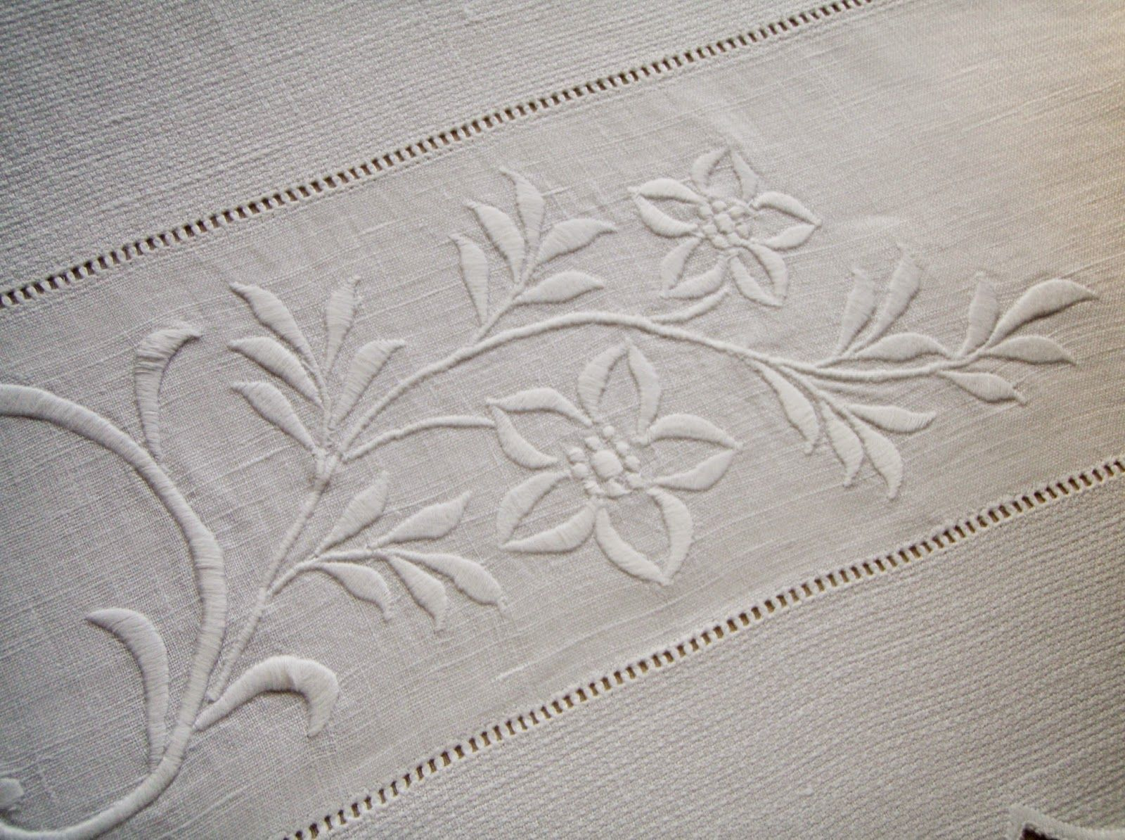 Today's Linen & A Bit Of New Ironstone #whiteembroidery