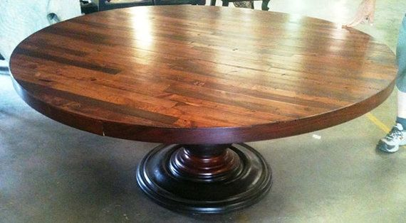 Round Table Ceres Ca.66 Round Plank Dining Table Handmade In North By Bandsfurniture