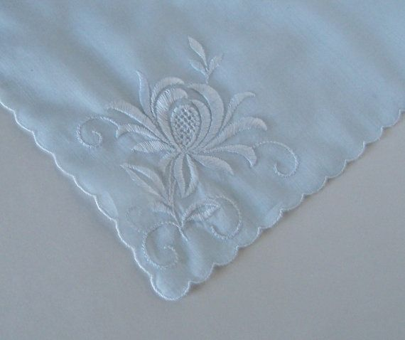 Something Blue Wedding Hanky Bridal Shower by GreenbriarCreations