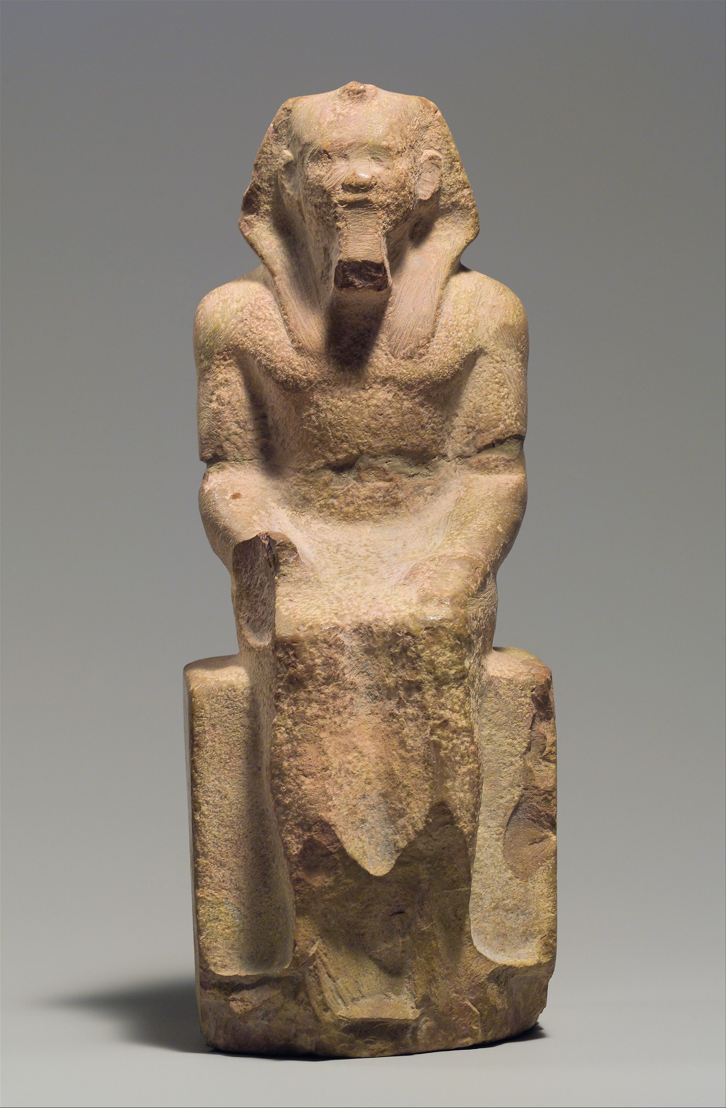 Seated Statue Of King Menkaure Period Old Kingdom Dynasty