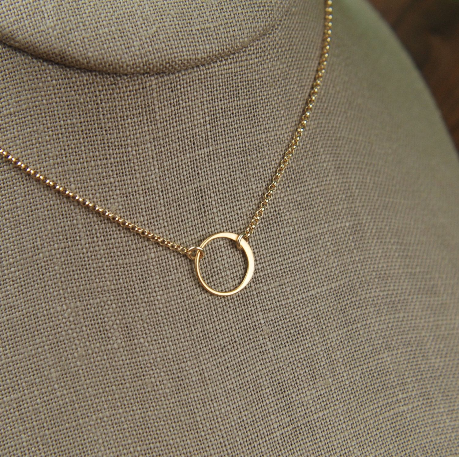 Small gold circle link and gold filled necklace tiny circle small gold circle link and gold filled necklace tiny circle necklace infinity necklace aloadofball Image collections
