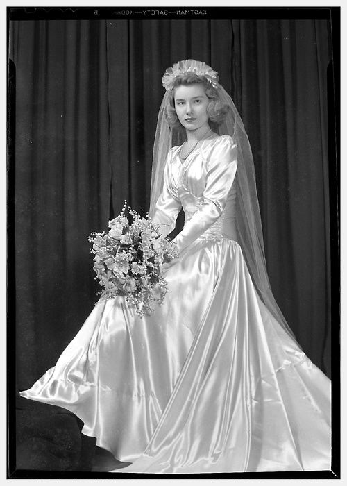 1940s bride... my parents got married in the 40s ~ my mother will be ...