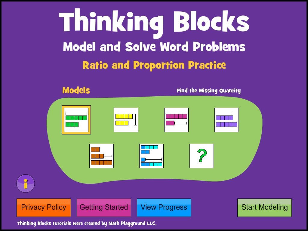 Thinking Blocks Ratios Teaches Children How To Model And