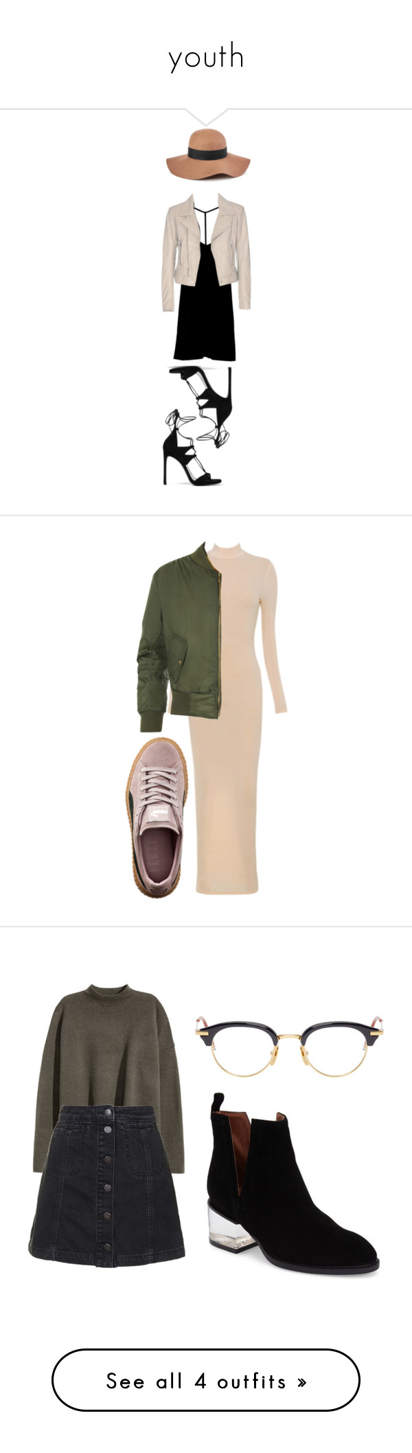 """""""youth"""" by leilaprins ❤ liked on Polyvore featuring RVCA, Balenciaga, Stuart Weitzman, Reiss, WearAll, Puma, Topshop, Thom Browne, Jeffrey Campbell and H&M"""