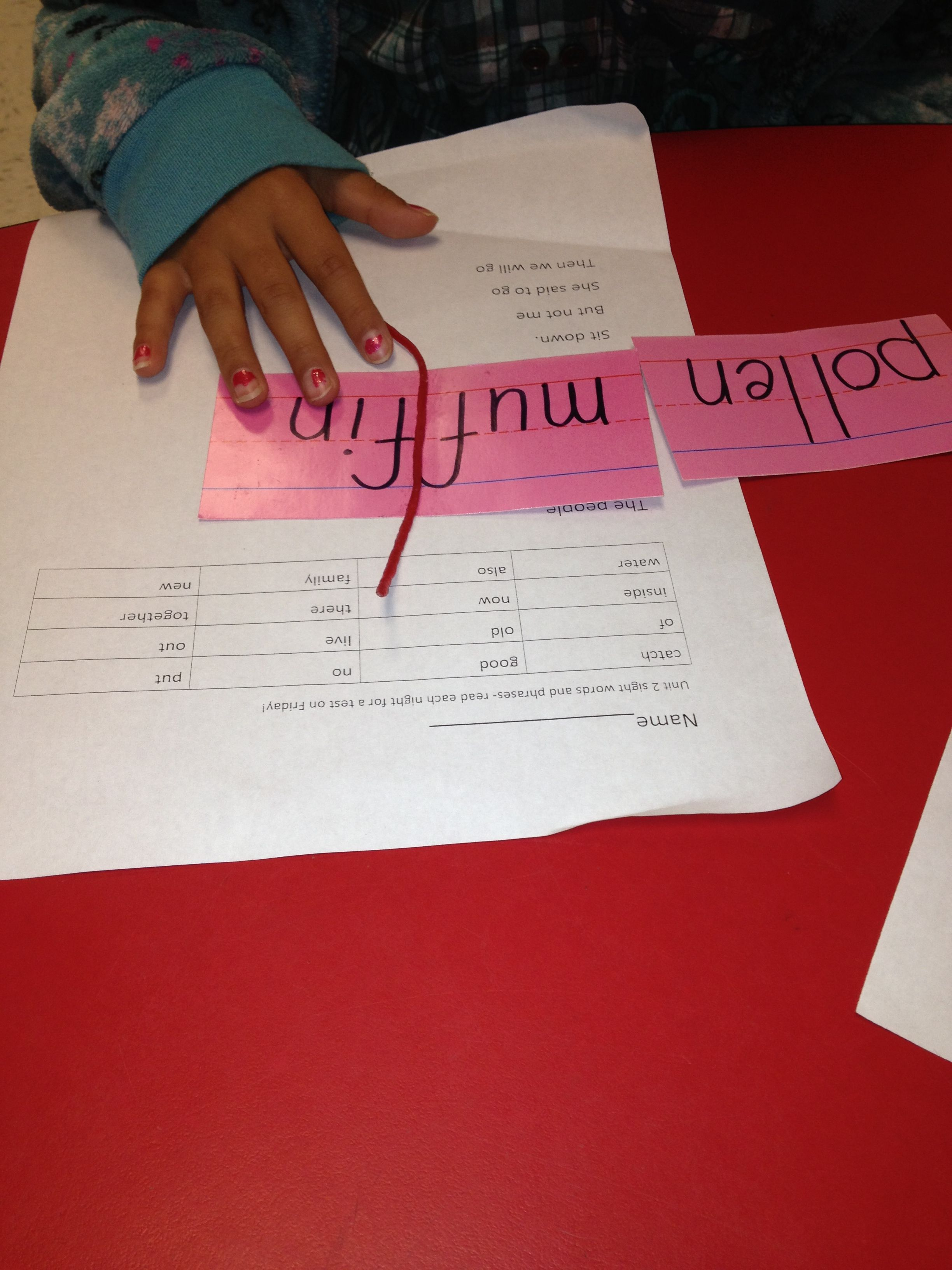 Syllable patterns vccv worksheet education com - Vccv Pattern Give Each Group A Few Words And Have Them Separate Using Pipe Cleaner