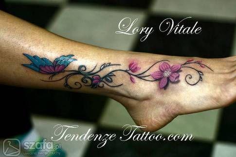 Znalezione Obrazy Dla Zapytania Tatuaz Na Stopie Leg Tattoos Tattoos Cool Tattoos
