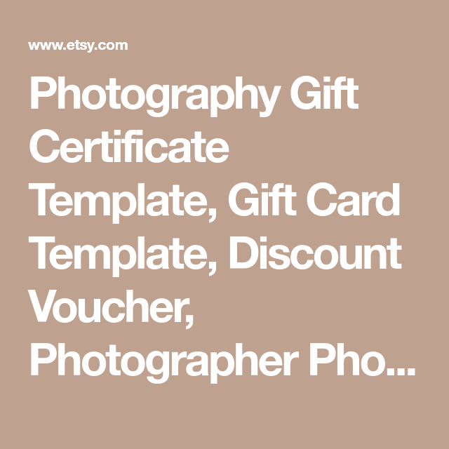Photography gift certificate template gift card template discount photography gift certificate template gift card template discount voucher photographer photoshop template yelopaper Gallery