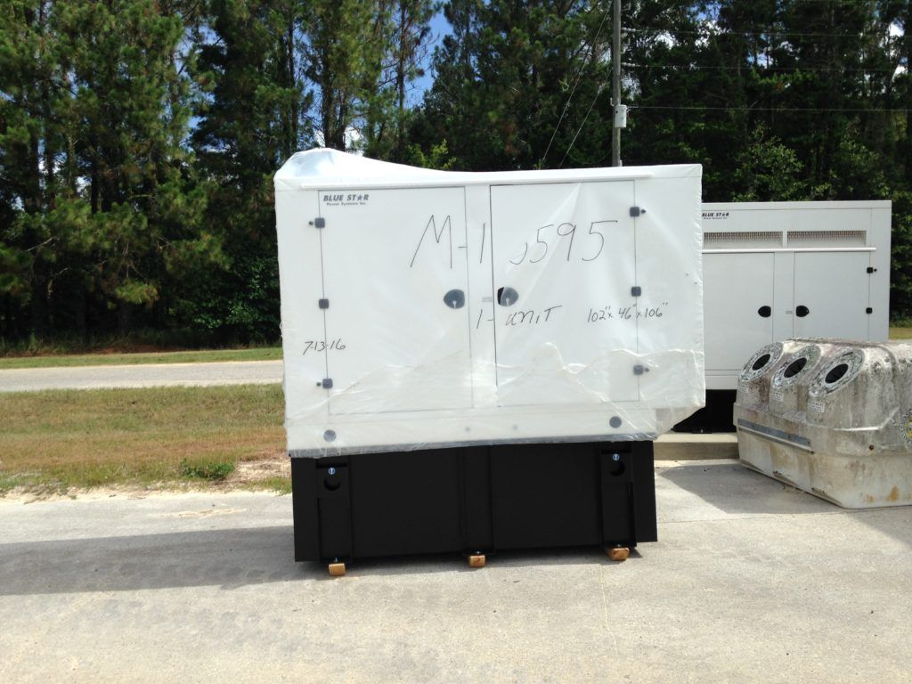 Mid Florida Diesel Delivered New Blue Star Generator With A Basler Controller Level Ii Enclosure And A 250 Gallon Double Wall Ul 1 Blue Star Diesel Generation