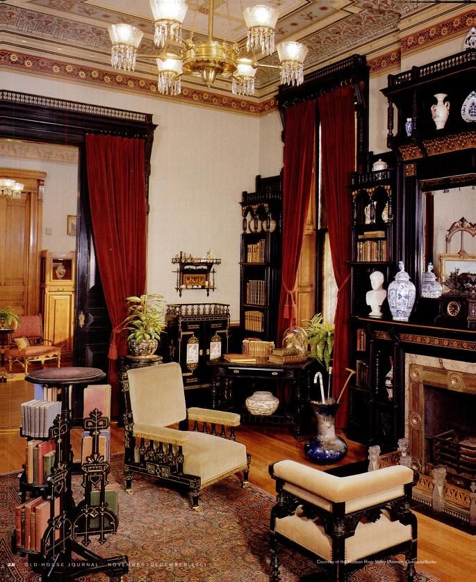 Old Victorian Room: Eastlake Parlor. Glenview Mansion,Yonkers, NY.