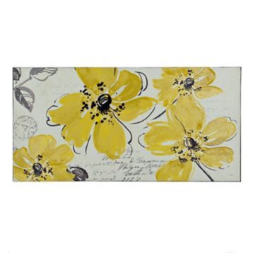 Windy Yellow Floral Canvas Art Print With Images Unique Canvas