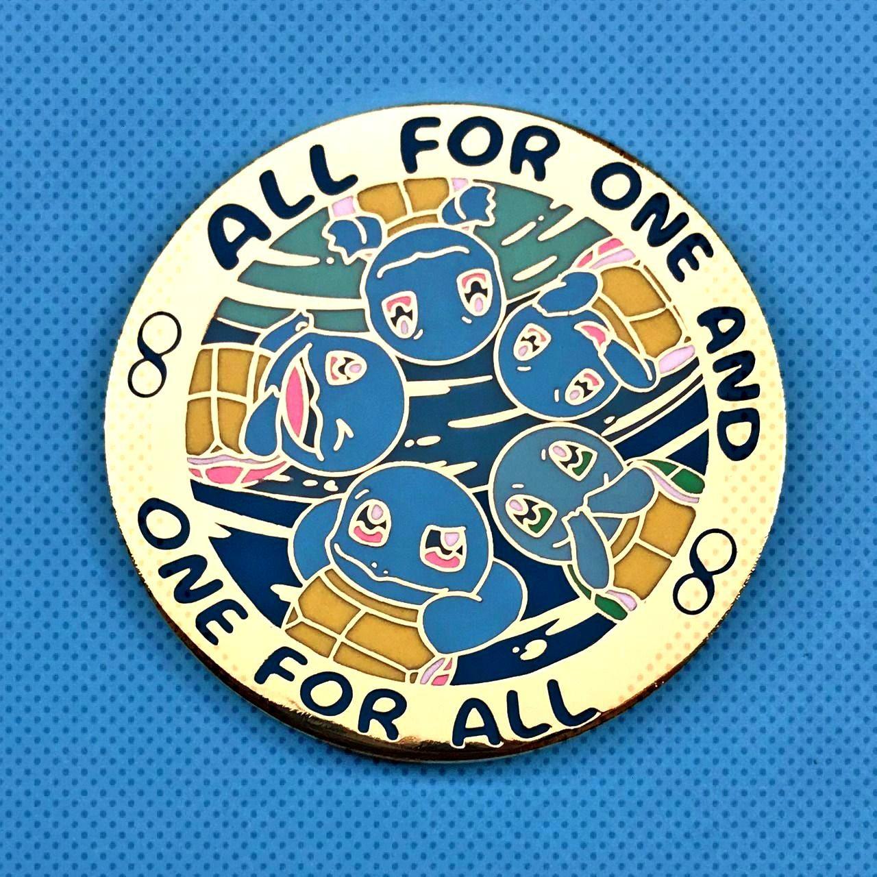 Kanto Starter Pokemon Pins made by KdeKevin -