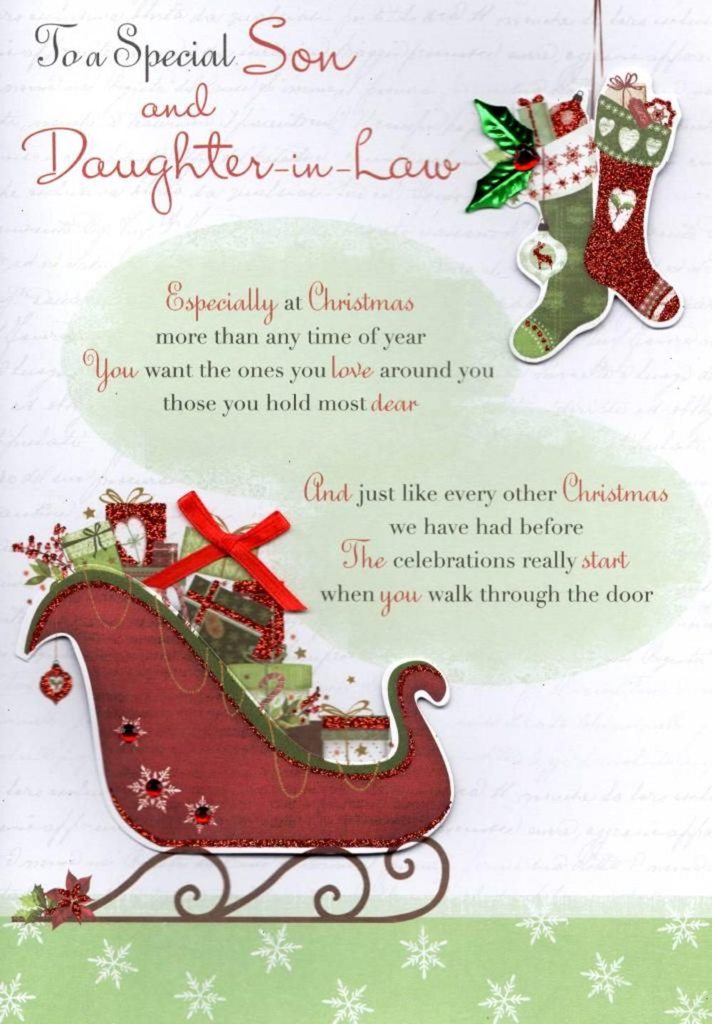 Image result for daughter and son in law christmas card   Law christmas, Brother christmas