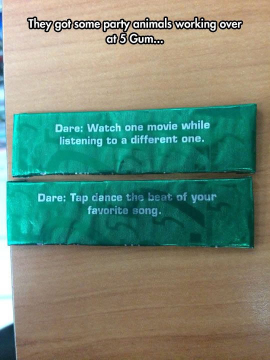 5 Gum Likes To Party Hard