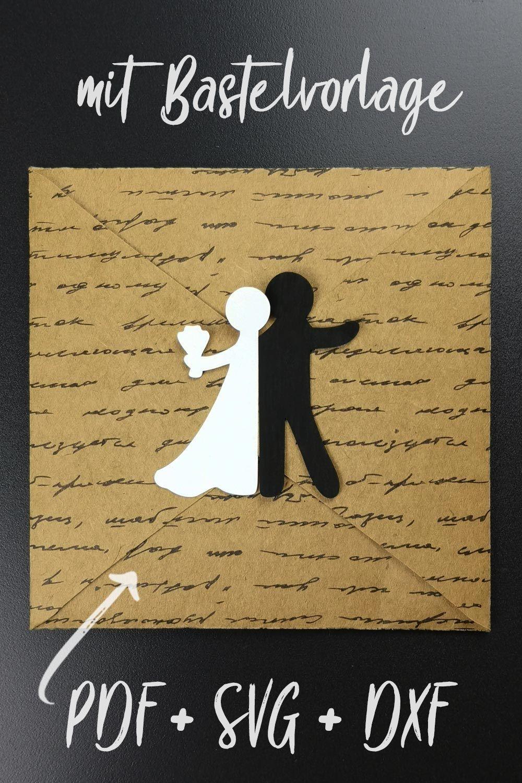 Bastelvorlage Plotterfreebie Fur Hochzeitskarte Mit Brautpaar Gluckwunschkarte Zur Hochzeit Mit Ein Gluckwunschkarte Hochzeit Karte Hochzeit Hochzeitskarten