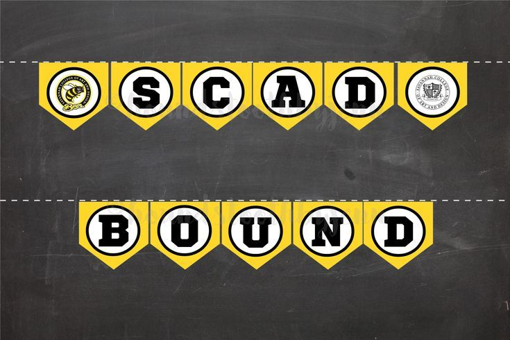 SCAD BOUND Banner Printable Savannah College of Art and Design Pennants diy tailgate party s SCAD BOUND Banner Printable Savannah College of Art and Design Pennants diy t...