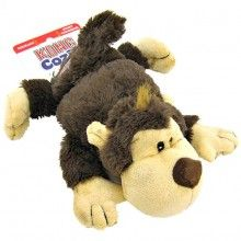 Kong Cozie Spunky The Brown Monkey Dog Toy Dog Supplies Dog