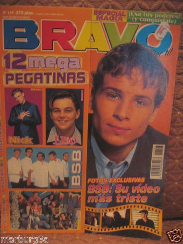 Bravo Boys nick backstreet boys magazine bravo stickers