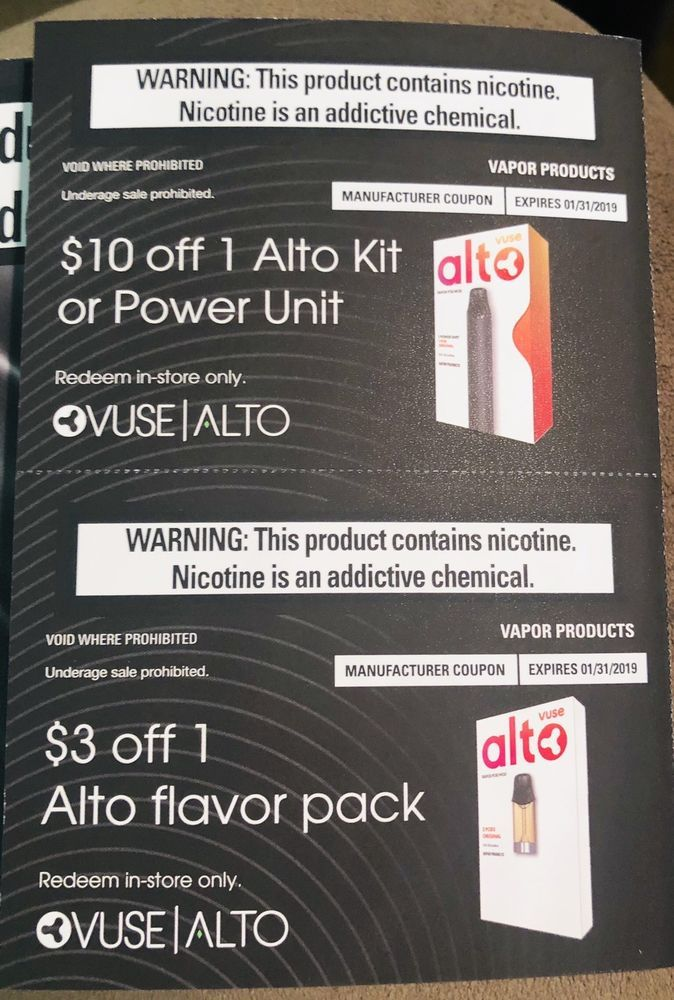 photograph about Vuse Alto Printable Coupon known as Information relating to 2 Discount codes Vuse Alto Vapor Package or Energy Gadget