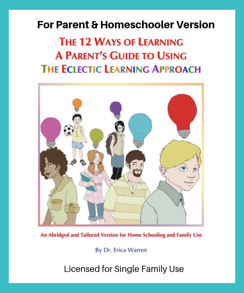 12 Ways Of Learning Parent Guide Ela Eclectic Learning Ways Of Learning Teaching Information Processing