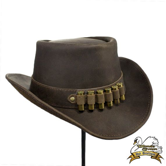 7589af47b19ef Western Gunslinger Cowboy Hat This hat will show everyone that you survived  the dangers of the wild west. Our Leather Western hat is made of premium top  ...