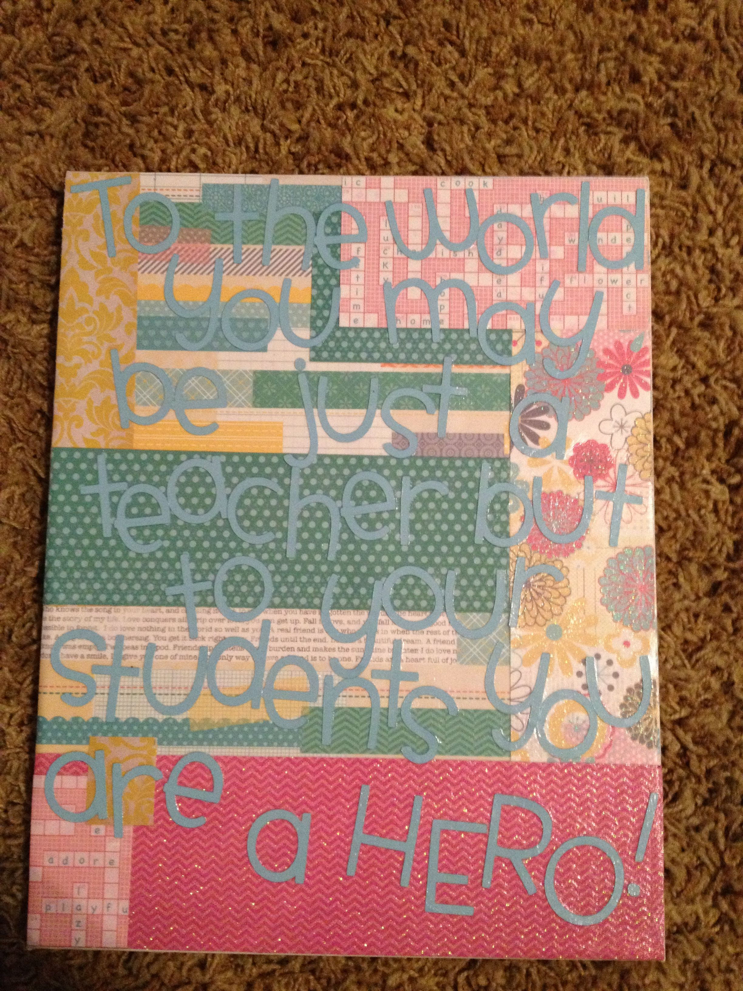 Diy canvas art i just used scrapbook paper and mod podge