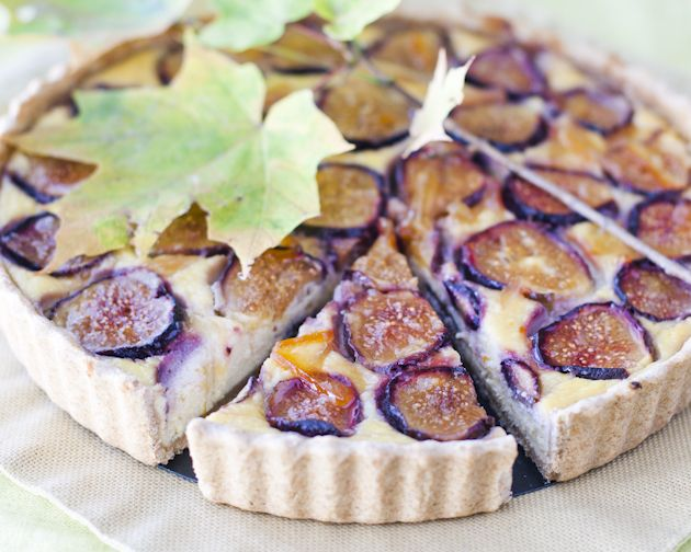 fig and ricotta tart