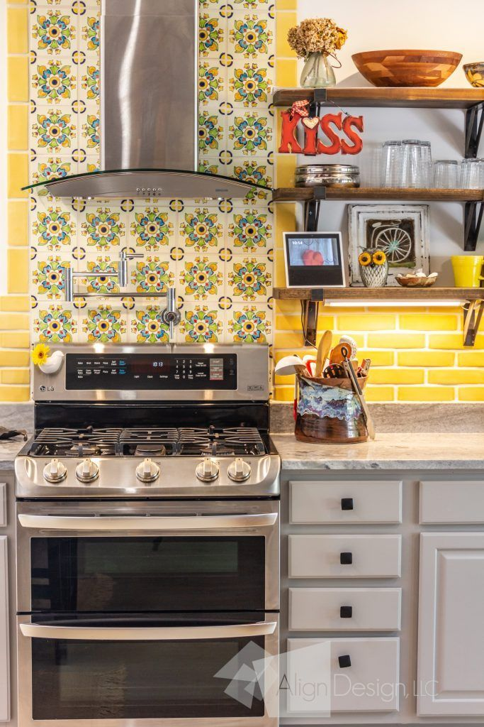 Funky West Asheville Kitchen - AlignDesign | Kitchen ...
