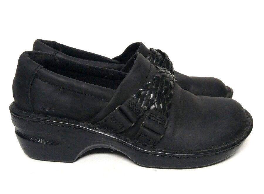 033b2c866bfb Boc Born Oneya Clogs Slip On Shoes Black Leather Braided Strap Women s 9  C80203  Brn  Clogs