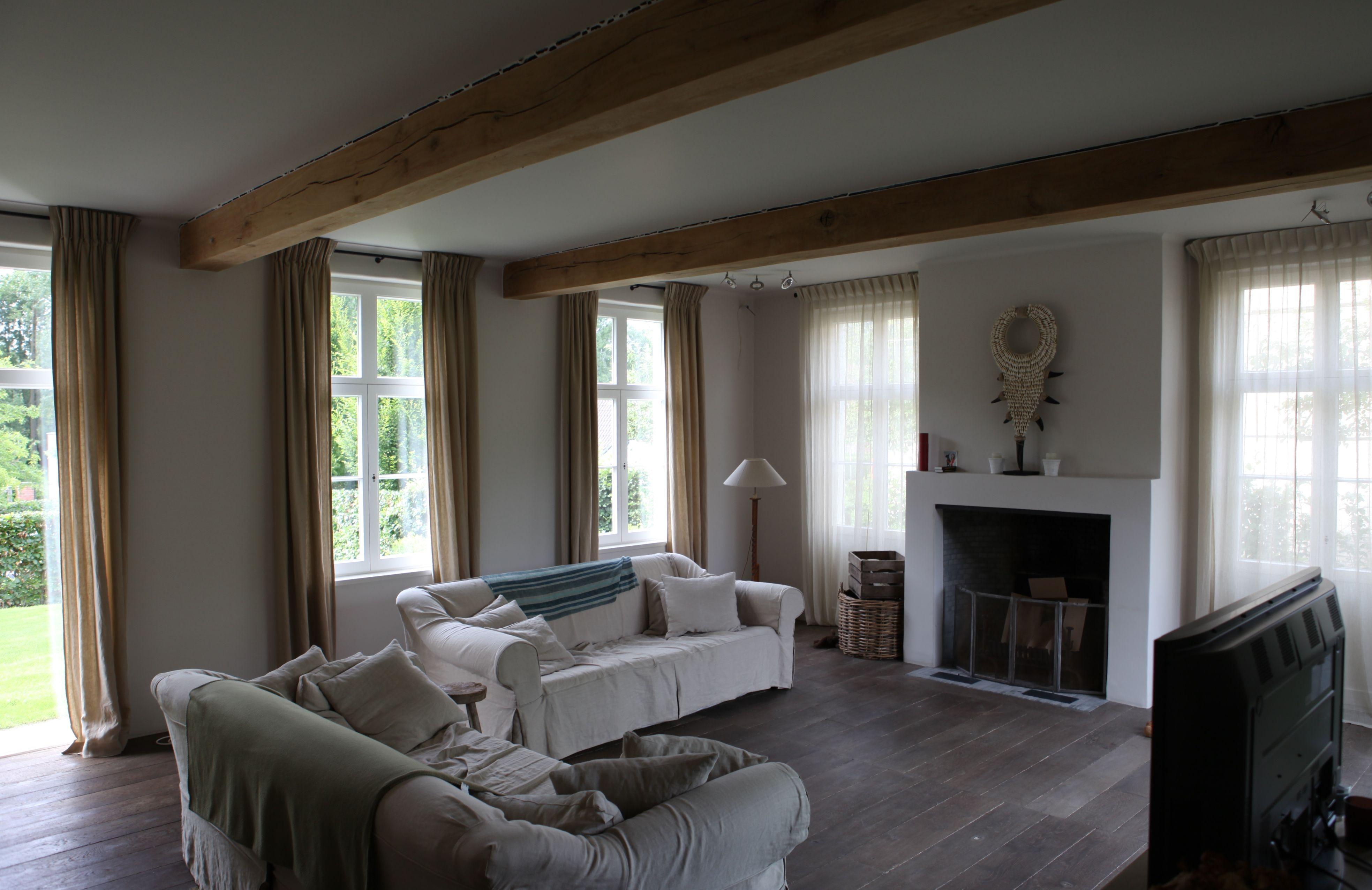 Realisatie gordijnen Burigat Decoratie - villa ism Stéphane Boens ...
