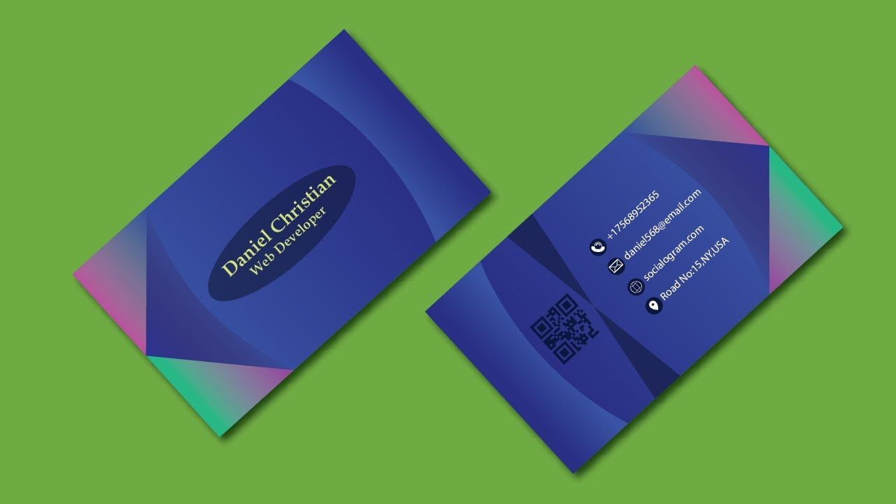 Business Card Design Illustrator Tutorial Business Card Making Eye Catching Business Card In 2021 Business Card Design Card Design Illustrator Tutorials