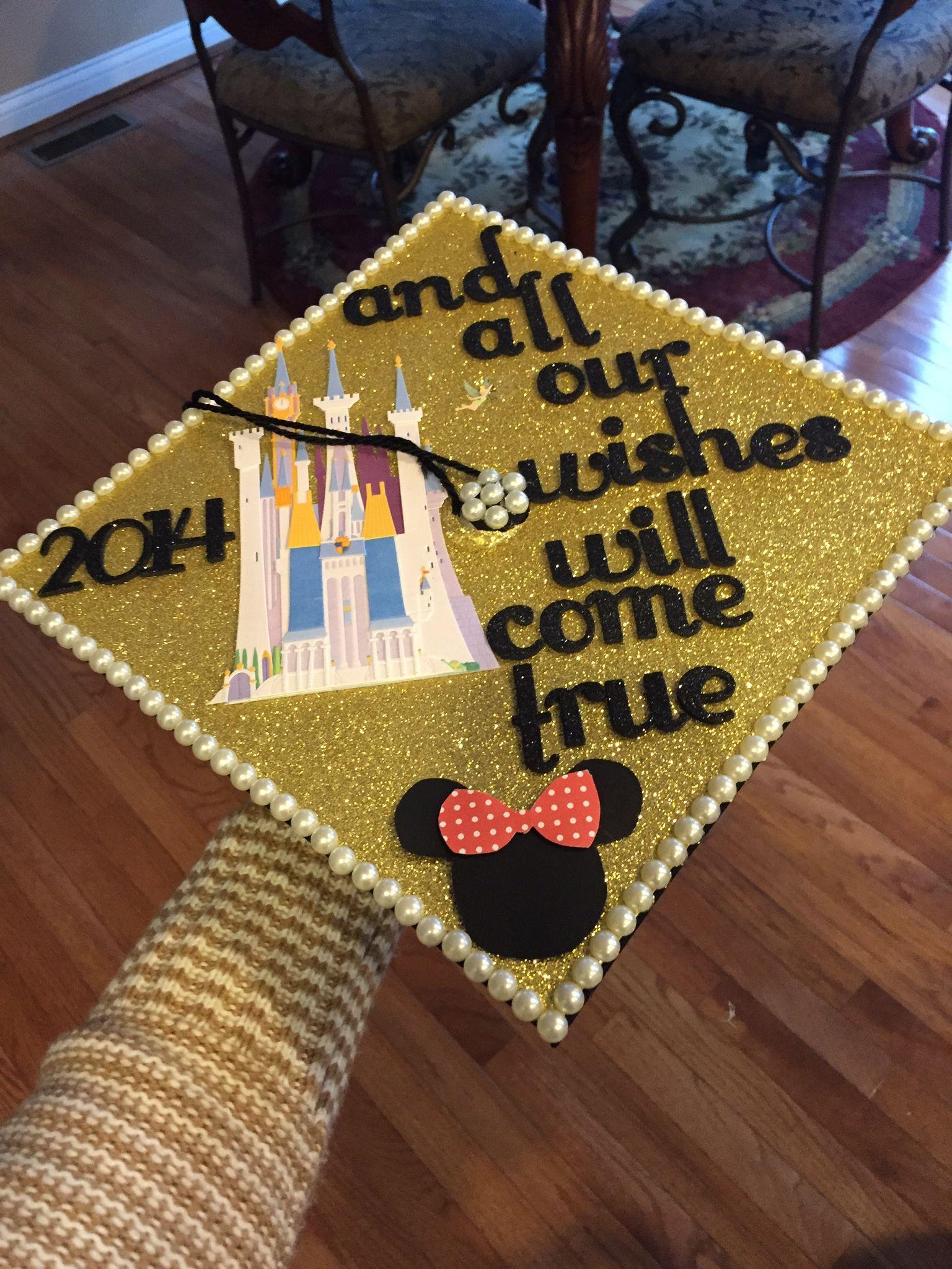 2014 graduation decorations - Disney Graduation Cap 2014