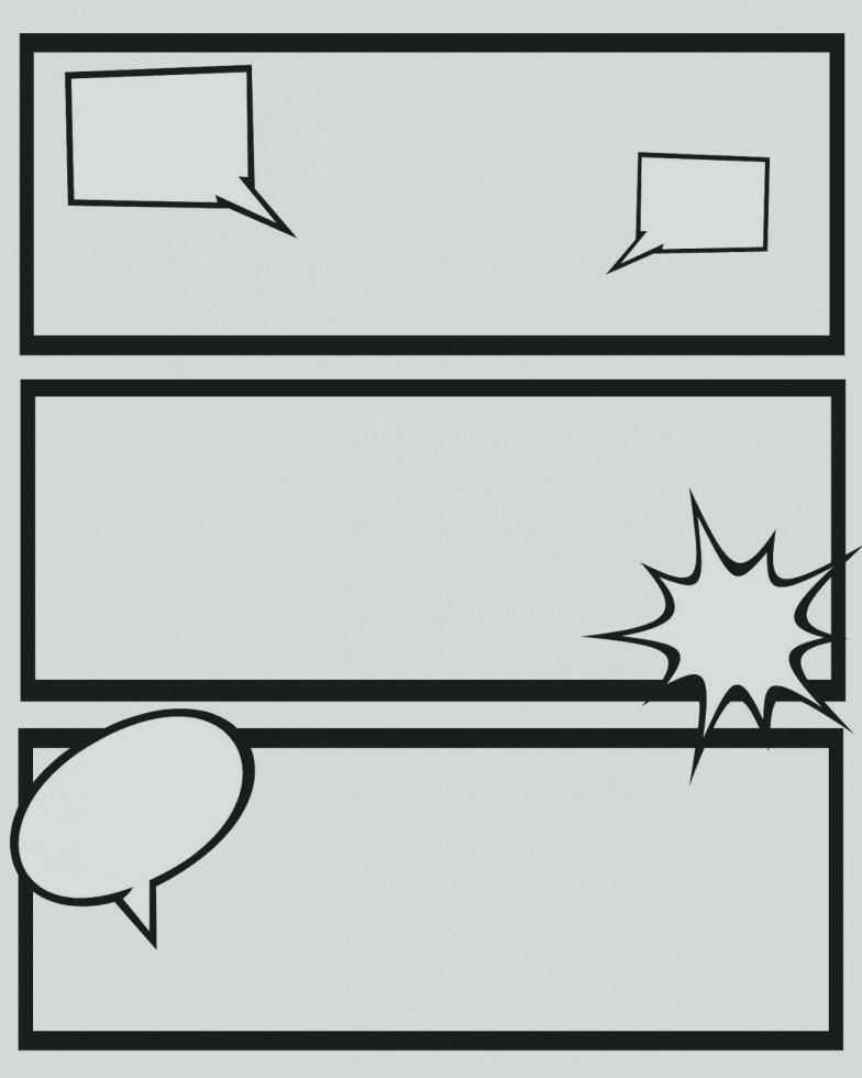 comic strip template with speech bubbles  comic strips template best of blank comic strip template ...