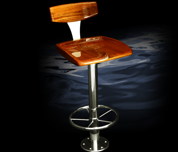 Discover All The Information About Product Round Base Bar Stool For Yachts Ships Backfin Release Marine And Find Where You Can It