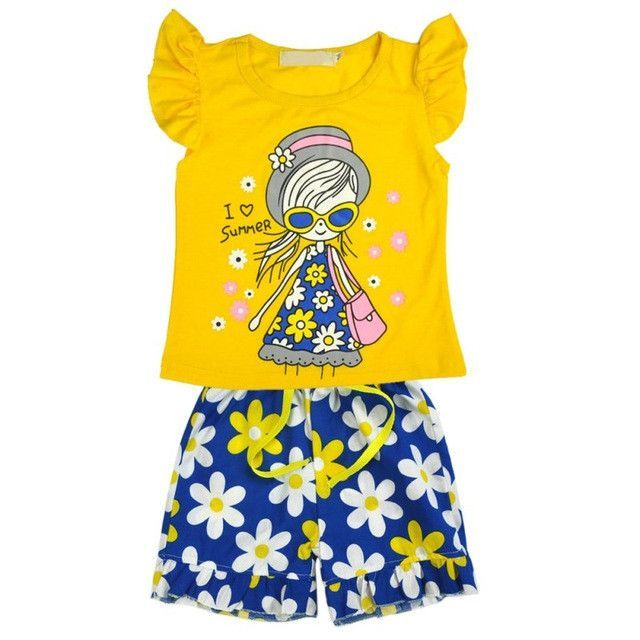 1c7a68dd7 3PCS Set ! 2017 Spring Autumn Cute Baby Girls Clothes Toddler Kids ...