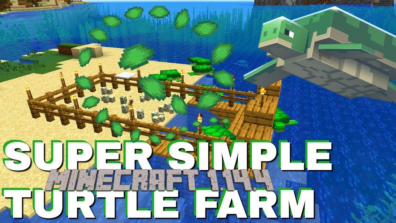How to make a Turtle Farm In Minecraft 1.14.4 Very