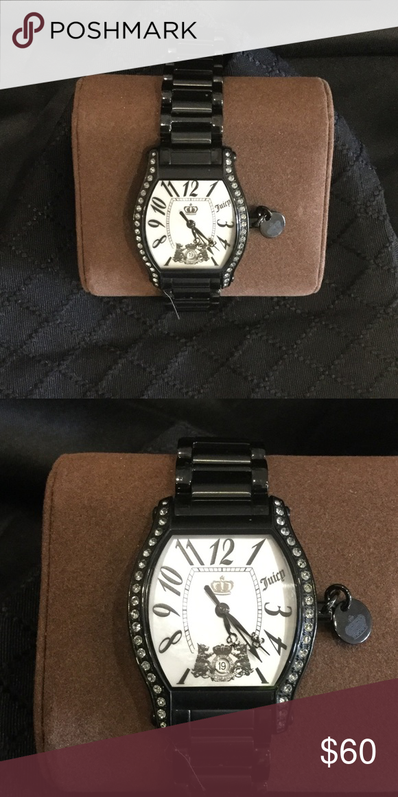 Juicy watch- Swarovski- black watch Don't wear- worn twice-  really nice looking.. I just have another black watch Accessories Watches
