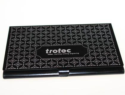 Lasergravierte Visitenkartenbox Aus Metall Laser