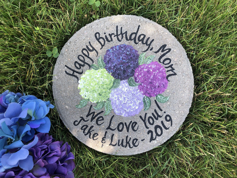 Anniversary garden stone personalized garden stone