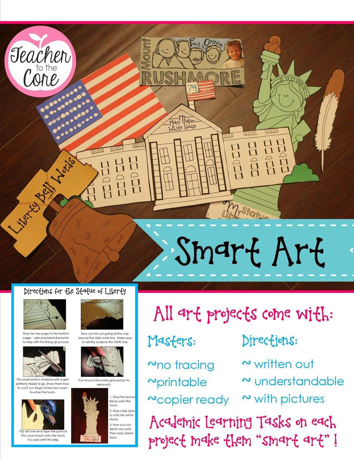 American Symbols Art And Reading 1st Grade Social Studies