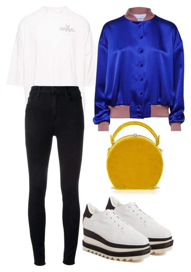 """""""Untitled #2528"""" by moxieremon on Polyvore featuring STELLA McCARTNEY, Unravel, J Brand, Hebe Studio and Bertoni"""