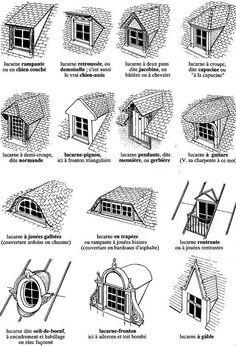 les lucarnes le plancher poutrelles hourdis agencement maison roof design house design et. Black Bedroom Furniture Sets. Home Design Ideas